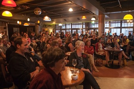 Fiona Kidman: 'Never sit in the front row!' NZ Writers Week, First Published session. Photo: New Zealand Festival Image – Pauline Lévêque