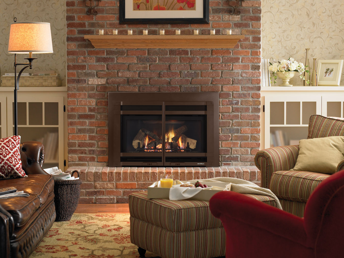 Brick Fireplace Part - 43: Clean Brick Fireplace