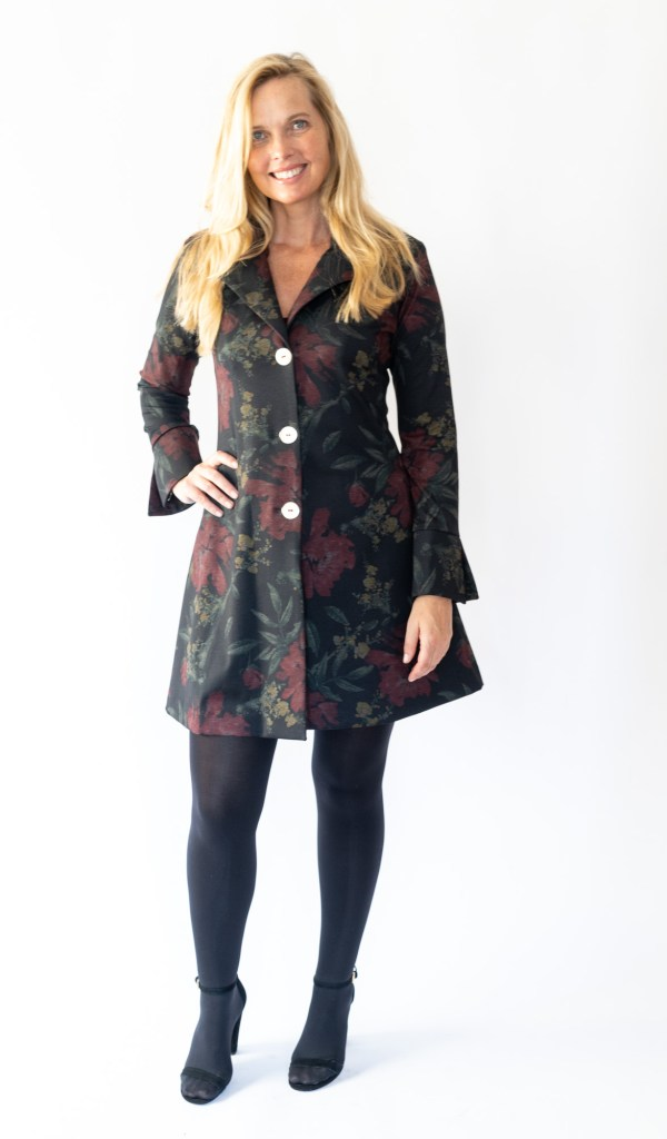 Tracy Gold Collection floral coat dress dress
