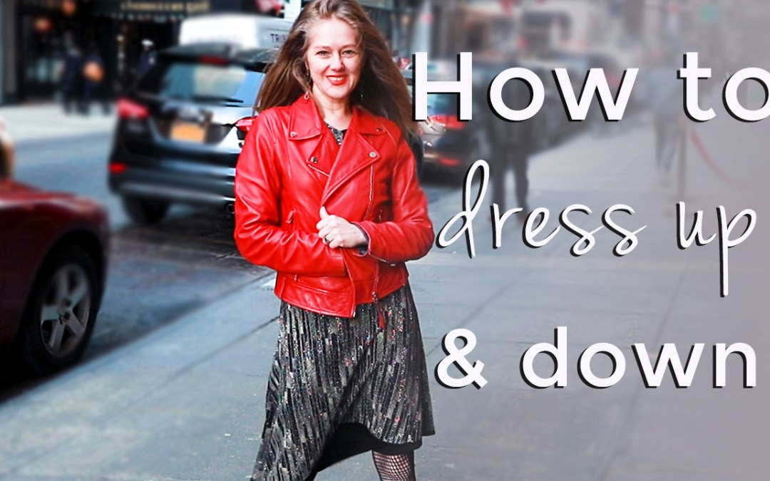 How to dress up and down for women over 40 - spring style tips for women over 40