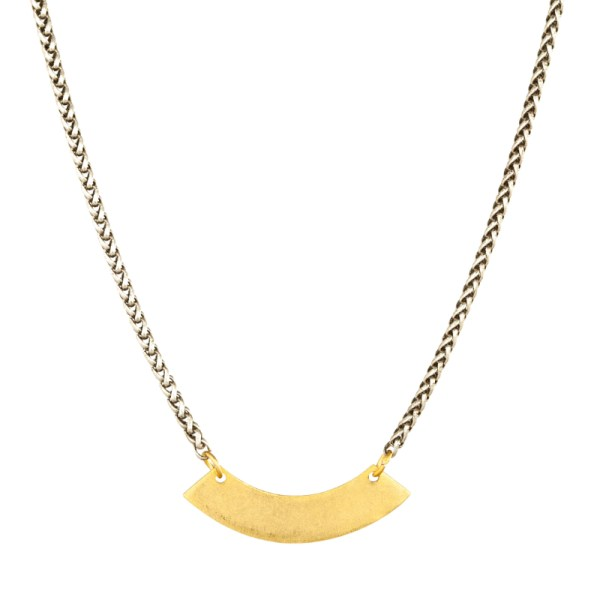 Tracy Gold Curated Illuminated Me Single Curve Necklace