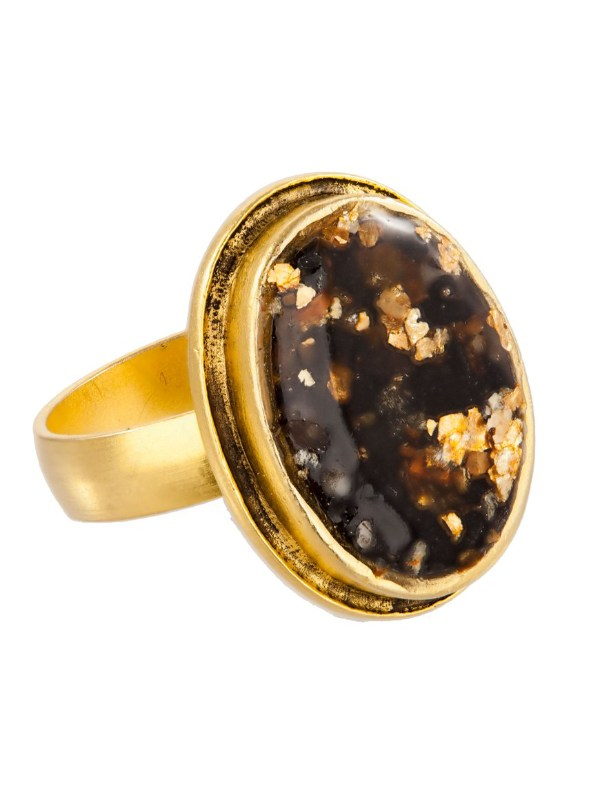 Tracy Gold Curated Illuminated Me Black Sesame Ring