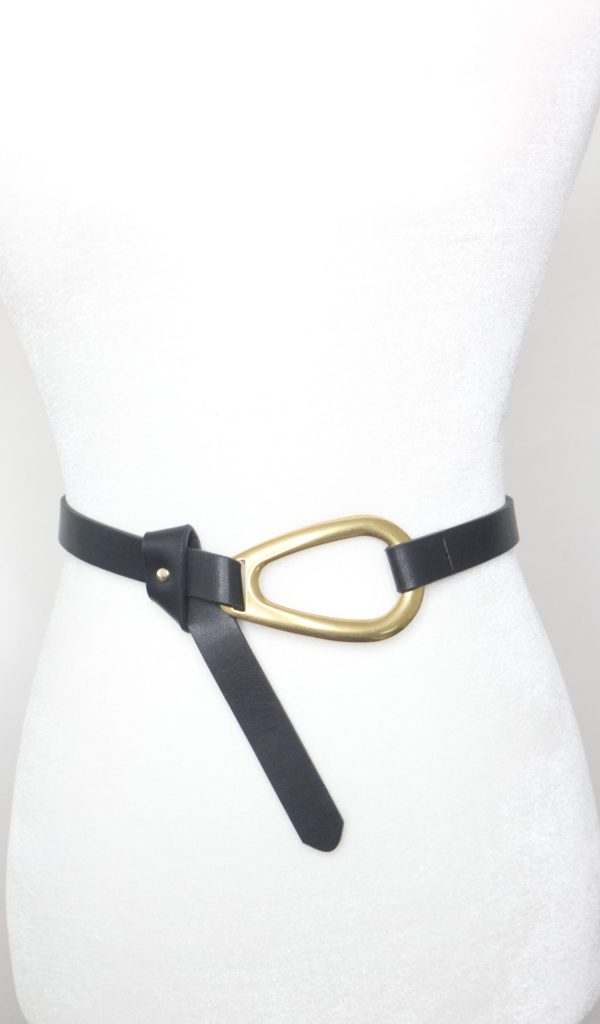 Tracy Gold Thrifted - Black and gold belt