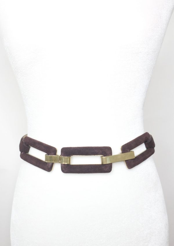 Tracy Gold Thrifted - Brown suede belt