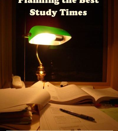 Planning the Best Study Times