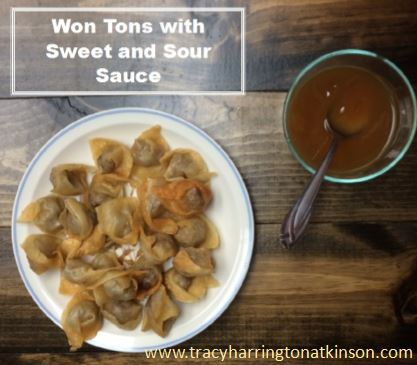 Won Tons with Sauce