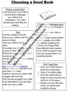 Choosing a Good Book handout
