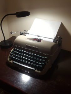 The typewriter I used back then