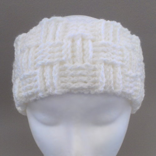 Headband Cream White Basket Weave