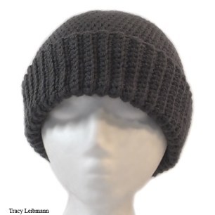 Cloche Beanie Hat, Charcoal