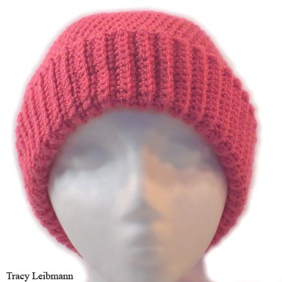 Cloche Beanie Hat, Flamingo