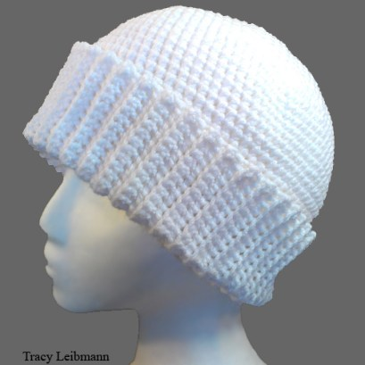 Cloche Beanie Hat White $34