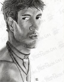 Enrique Iglesias, Graphite on Paper, 6.75x9 in, 2010