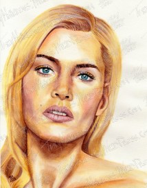 Kate Winslet, Watercolor Pencil on Paper, 8.5x11 in, 2012