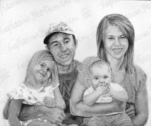 Reynold's Kids, Graphite on Paper, 2011 - SOLD