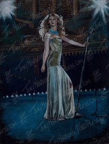 Taylor Swift, Pastel on Paper, 8x10.5 in, 2011 - SOLD