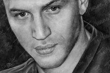 Tom Hardy, Graphite on Paper, 9x6 in, 2012 - SOLD