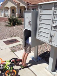 Every once in a while my son just needs to stick his head into the mailbox for no apparent reason :) #musingsofaboymom