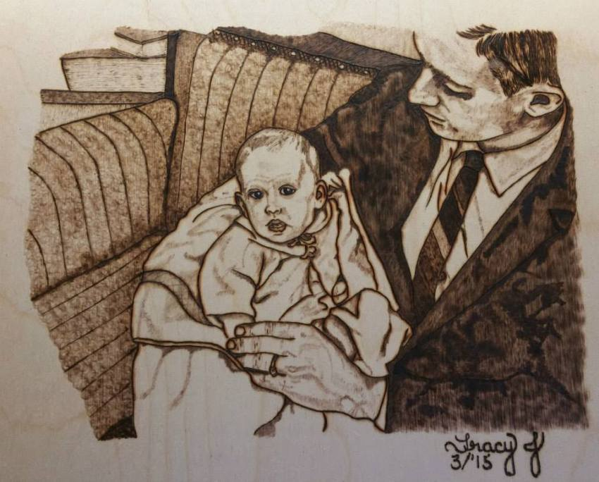 Baby Tracy and Dad