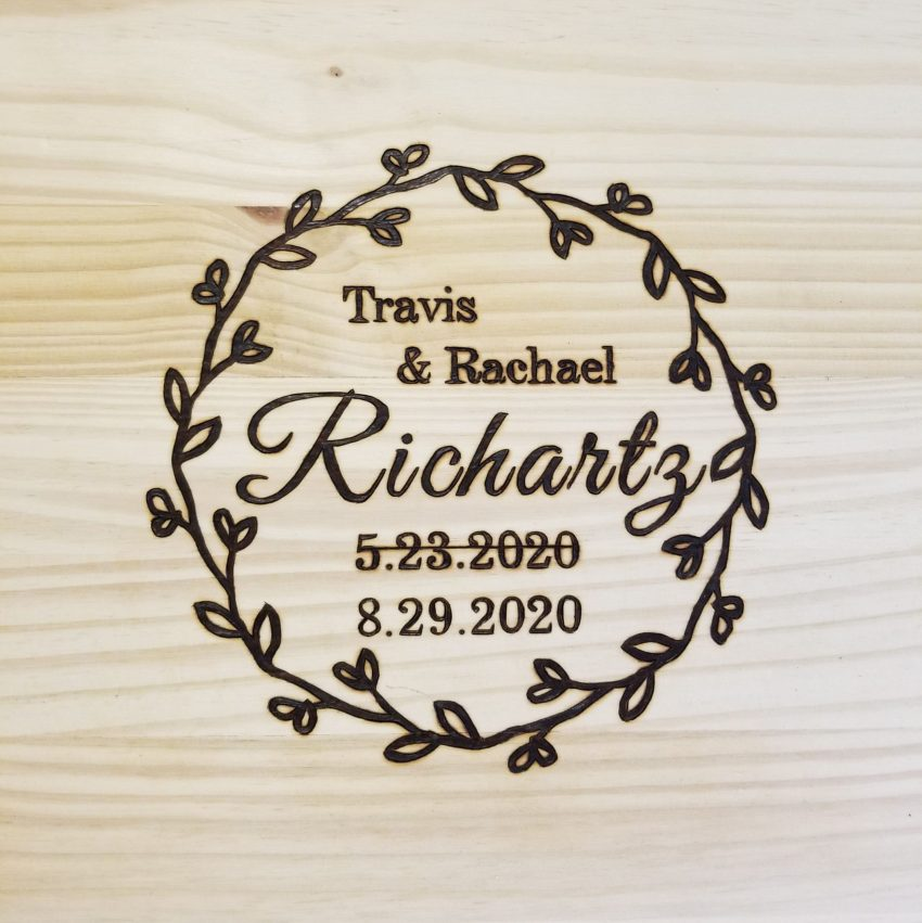 Rachael and Travis - UPDATED DATED - Wedding Signature Board
