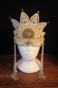 Cream headdress