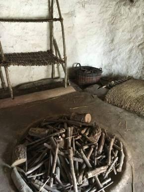 Inside neolithic house