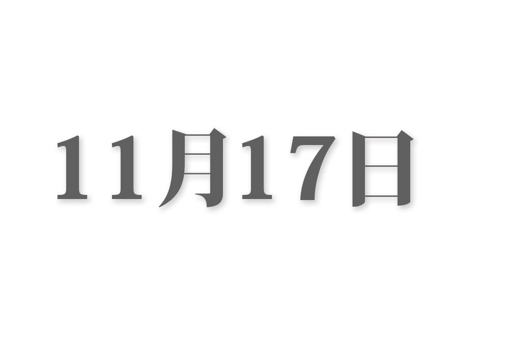 11月17日と言えば? 行事・出来事・記念日|今日の言葉・誕生花・石・星|総まとめ