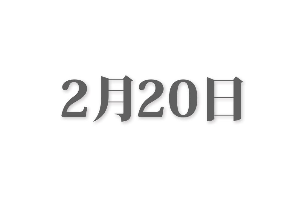 2月20日と言えば? 行事・出来事・記念日|今日の言葉・誕生花・石・星|総まとめ