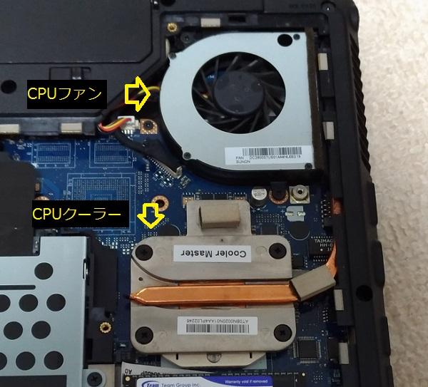 レノボノートパソコンの中のCPU周辺環境