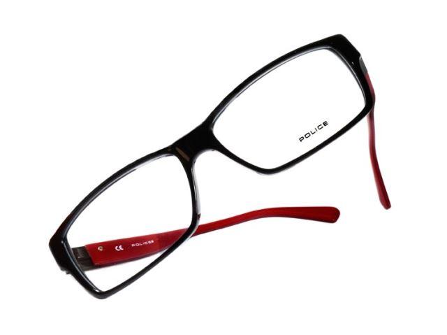 POLICE 義大利警察都會款個性型男眼鏡-膠框(深紅) POV1772-700R-米可利眼鏡有限公司
