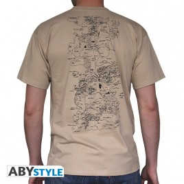 "GAME OF THRONES - Tshirt ""Map"" man SS sand - basic"