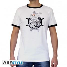 """ONE PIECE - Tshirt """"Thousand Sunny"""" uomo SS bianco - moda *"""