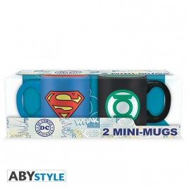 DC COMICS - Set 2 mini-tazze - 110 ml - Superman & Green Lantern x2