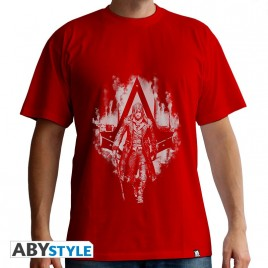 "ASSASSIN'S CREED - Tshirt ""artwork Jacob"" uomo SS rosso - basic"