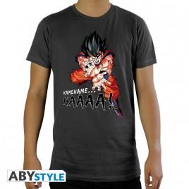 """DRAGON BALL - Tshirt """"DBZ / Kamehameha"""" uomo SS grigio scuro - basic"""