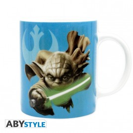 STAR WARS - Tazza - 320 ml - Yoda e R2D2 - con boxx2