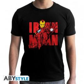 "MARVEL - Tshirt ""Iron Man Graphic"" uomo SS nero - nuova vestibilità"
