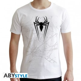 "MARVEL - Tshirt ""SPDM WEB"" uomo SS bianco - nuova vestibilità"