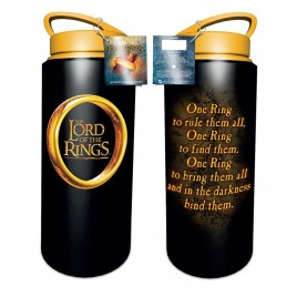 LORD OF THE RINGS - Bottiglia da 700 ml in alluminio con un anello
