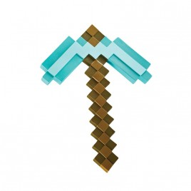 MINECRAFT - Diamond Pickaxe Replica in plastica PP