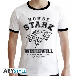 "GAME OF THRONES - Tshirt ""House Stark"" uomo SS bianco - premium"