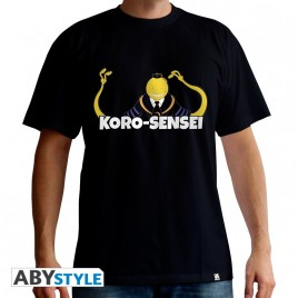 "CLASSE ASSASSINATION - Tshirt ""Koro sensei"" uomo SS nero - basic"