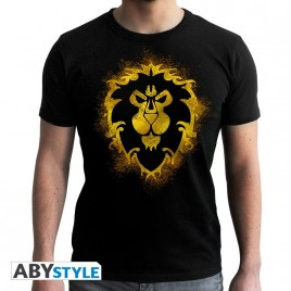 WORLD OF WARCRAFT - Tshirt Alliance - uomo SS nero - nuova vestibilità