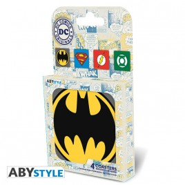 "DC COMICS - Set 4 Coasters ""Emblem"""
