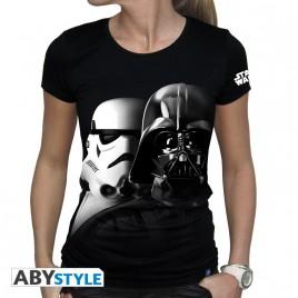 "STAR WARS - Tshirt ""Vador-Troopers"" donna SS nera"