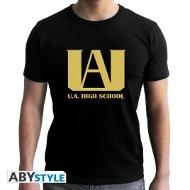 "MY HERO ACADEMIA - Tshirt ""UA"" uomo SS nero - nuova vestibilità"