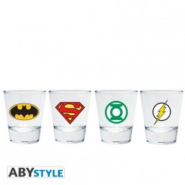 "DC COMICS - Shot Glass ""Emblem"" x2"