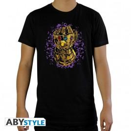 """MARVEL - Tshirt """"Infinity Gauntlet"""" uomo SS nero - nuova vestibilità"""