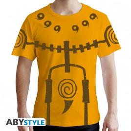 """NARUTO SHIPPUDEN - Tshirt """"Chakra Mode"""" uomo SS giallo - premium"""