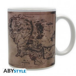 LORD OF THE RING - Tazza - 320 ml - Mappa - sotto - con boxx2